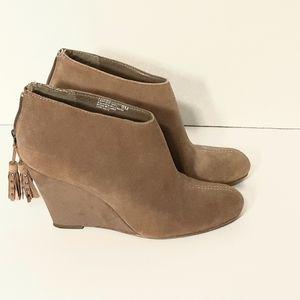 Anne Klein Aktorny Brown Leather Suede Booties